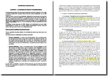 Contentieux contractuel : imprévision et relation contractuelle