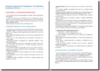 Les transitions à la démocratie en Amérique latine (1980-1990)
