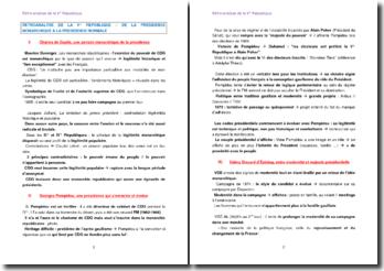 Rétroanalyse de la Ve République - De la présidence monarchique à la présidence normale