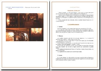 Projet merchandising : analyse d'un point de vente - Bar à vin