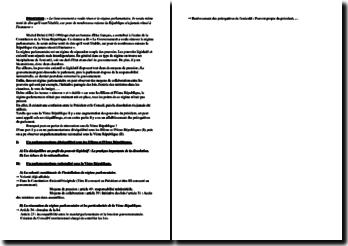Plan détaillé d'une dissertation sur une phrase de Michel Debré (1912-1996)