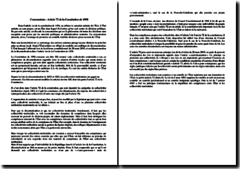 Article 72 de la Constitution de 1958