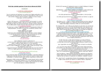 Droit des contrats spéciaux (à jour de la réforme de 2016)