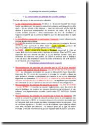 Droit des libertés fondamentales : le principe de sécurité juridique