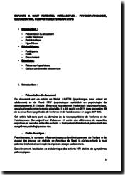 Enfants à haut potentiel intellectuel : psychopathologie, socialisation et comportements adaptatifs - Mehdi Liratni et René Pry