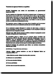 Traduction du règlement fédéral sur acquisition (FAR)