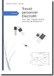 Travail de recherche : Triac, Diac, Thyristor et filtre passe-bas de Butterworth