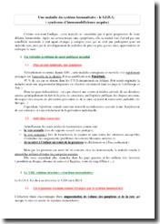 Une maladie du système immunitaire : le sida (syndrome d'immunodéficience acquise)