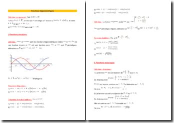 Fonctions trigonométriques : définitions et propriétés