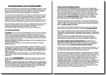 Les garanties autonomes - Un cas de sûreté personnelle