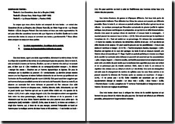Corpus de textes : une critique de la société par l'argumentation indirecte