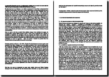 La monarchie française vue par un ambassadeur vénitien - Michel Suriano (1561) : La question des lois fondamentales et l'autorité monarchique