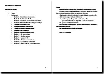 Le Droit à la ville - Henri Lefebvre (1968)