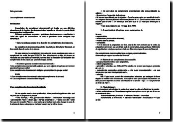 L'utilisation des compléments circonstanciels en grammaire française