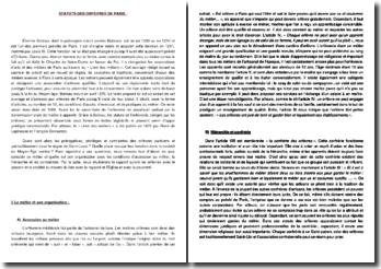Le Livre des métiers - Etienne Boileau (1268) : Douze articles aux orfèvres de Paris
