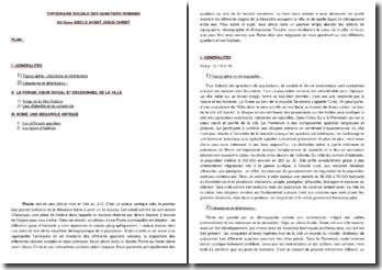 Curculio - Plaute (vers -193) : la topographie sociale des quartiers de Rome au IIe siècle avant Jésus-Christ