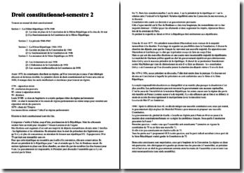 Cours de droit constitutionnel - Semestre 2