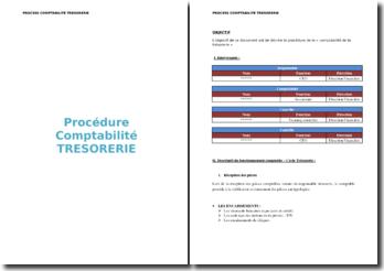 Procédure de description de la comptabilité trésorerie
