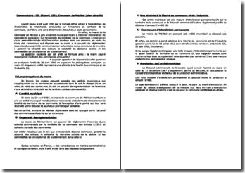 Conseil d'Etat, 26 avril 1993, commune de Méribel - Le maire peut-il réglementer l'activité des commerces ambulants?