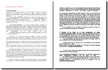Les sources matérielles et formelles du droit international