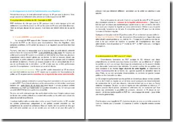 Le développement du droit de l'administration sous Napoléon