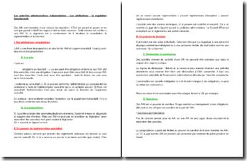 Les autorités administratives indépendantes : attributions et régulation fonctionnelle