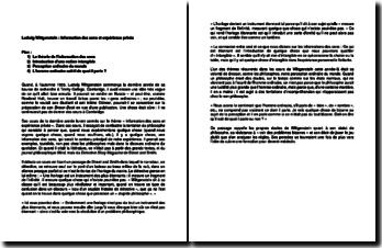 Ludwig Wittgenstein : théorie de l'information des sens et expérience privée