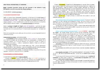 Cours de droit fiscal international et européen