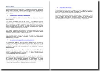 Les modalités du travail détaché selon le Code du travail
