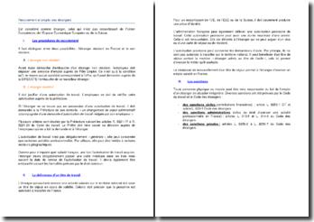 La procédure de recrutement et d'emploi des travailleurs étrangers en France