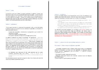 La rédaction d'un contrat ou l'instrumentum contractuel