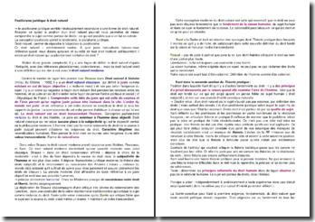 Analyse de la relation entre positivisme juridique et droit naturel
