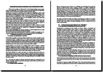 De la République - Cicéron, 54 av. J.-C. - Livre I, Chapitre XXV à XXXIV