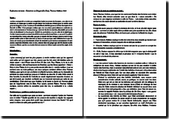 Le Citoyen (De Cive) - Thomas Hobbes (1642) : Comment encadrer l'action de l'Homme sans le brider ?