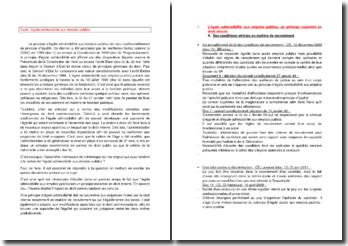 Note de synthèse sur l'égale admissibilité aux emplois publics