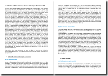 Le discours de l'horloge : déclaration de Robert Schuman à Paris (9 mai 1950)
