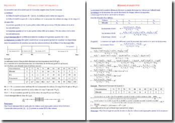 Statistiques et séries statistiques