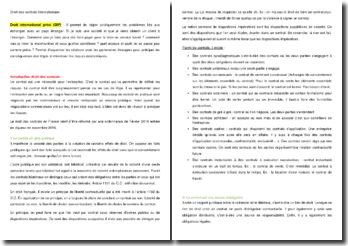 Les enjeux du droit des contrats français et international