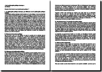 Sur la philosophie politique classique - Chapitre III: Qu'est-ce que la philosophie politique ? Léo Strauss, 1992
