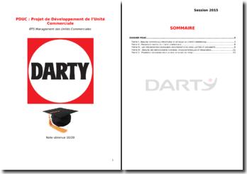 Projet de développement de l'unité commerciale du Groupe Darty