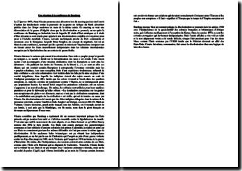 Une réaction à la conférence de Bandung - Discours d'Aimé Césaire (27 janvier 1956)