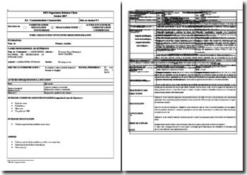 Communication commerciale : exemple d'une fiche de situation dans le cadre de négociations pour la vente d'une prestation