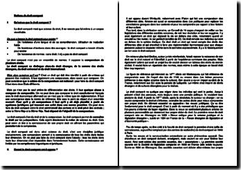 Notions et définitions de droit comparé