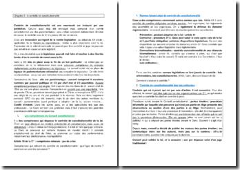 Le contrôle de constitutionnalité : compétences et développement du Conseil constitutionnel
