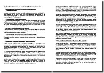 Le Conseil constitutionnel et son organisation et fonctionnement singuliers