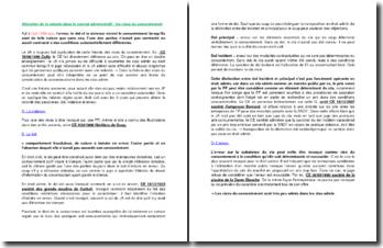 L'altération de la volonté dans le contrat administratif : les vices du consentement