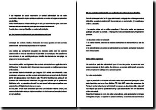 L'identification des contrats administratifs