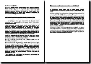 Les documents budgétaires relatifs au projet de loi des finances