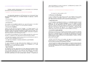 Les autorités judiciaires françaises en matière d'entraide judiciaire