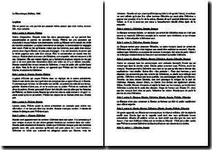 Le Misanthrope - Molière (1666) : résumé détaillé